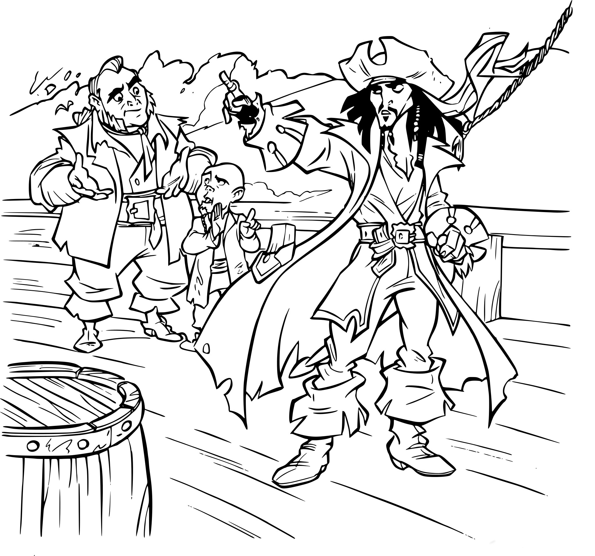 Coloriage Jack Sparrow