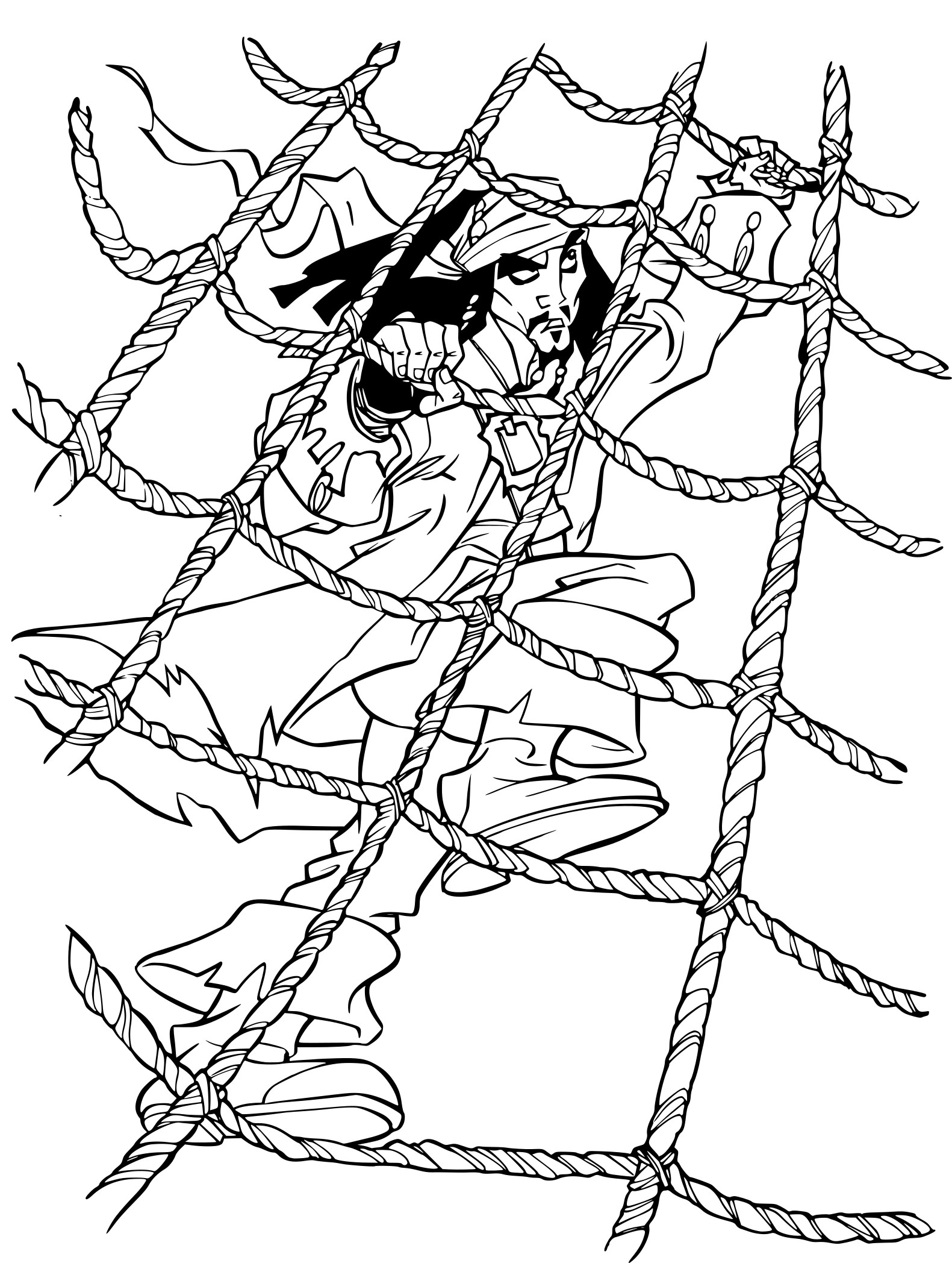 Coloriage jack sparrow pirates des caraibes imprimer - Coloriage pirate des caraibes ...