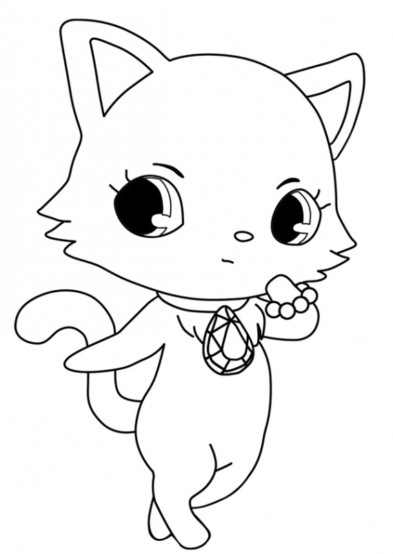 Coloriage Jewelpets Garnet