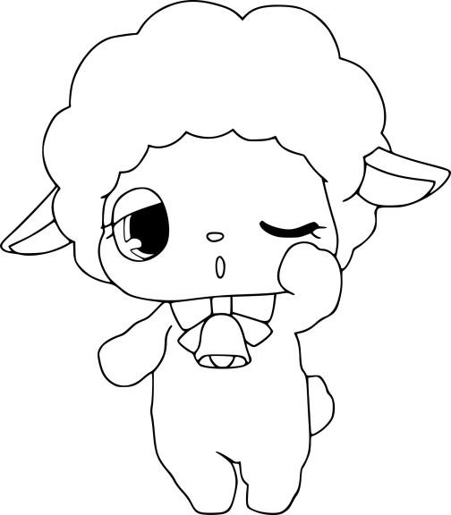 Coloriage Jewelpet mouton