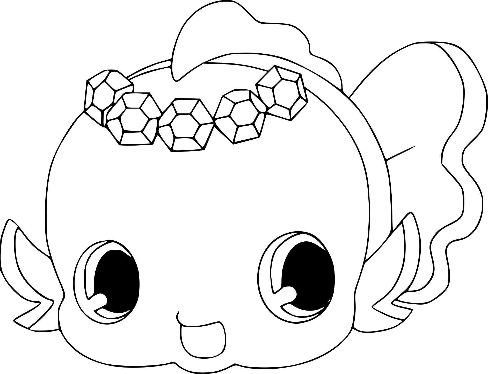 Coloriage Jewelpet Aqua