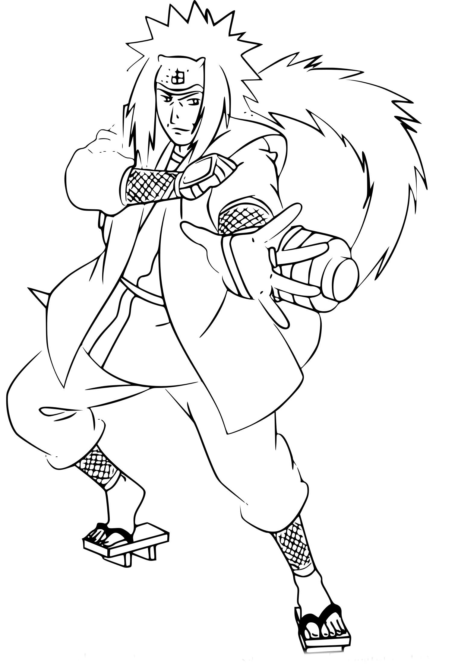 Coloriage Jiraiya Naruto