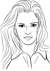 Coloriage Kristen Stewart