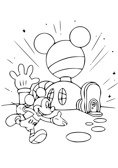 Coloriage la maison de Mickey