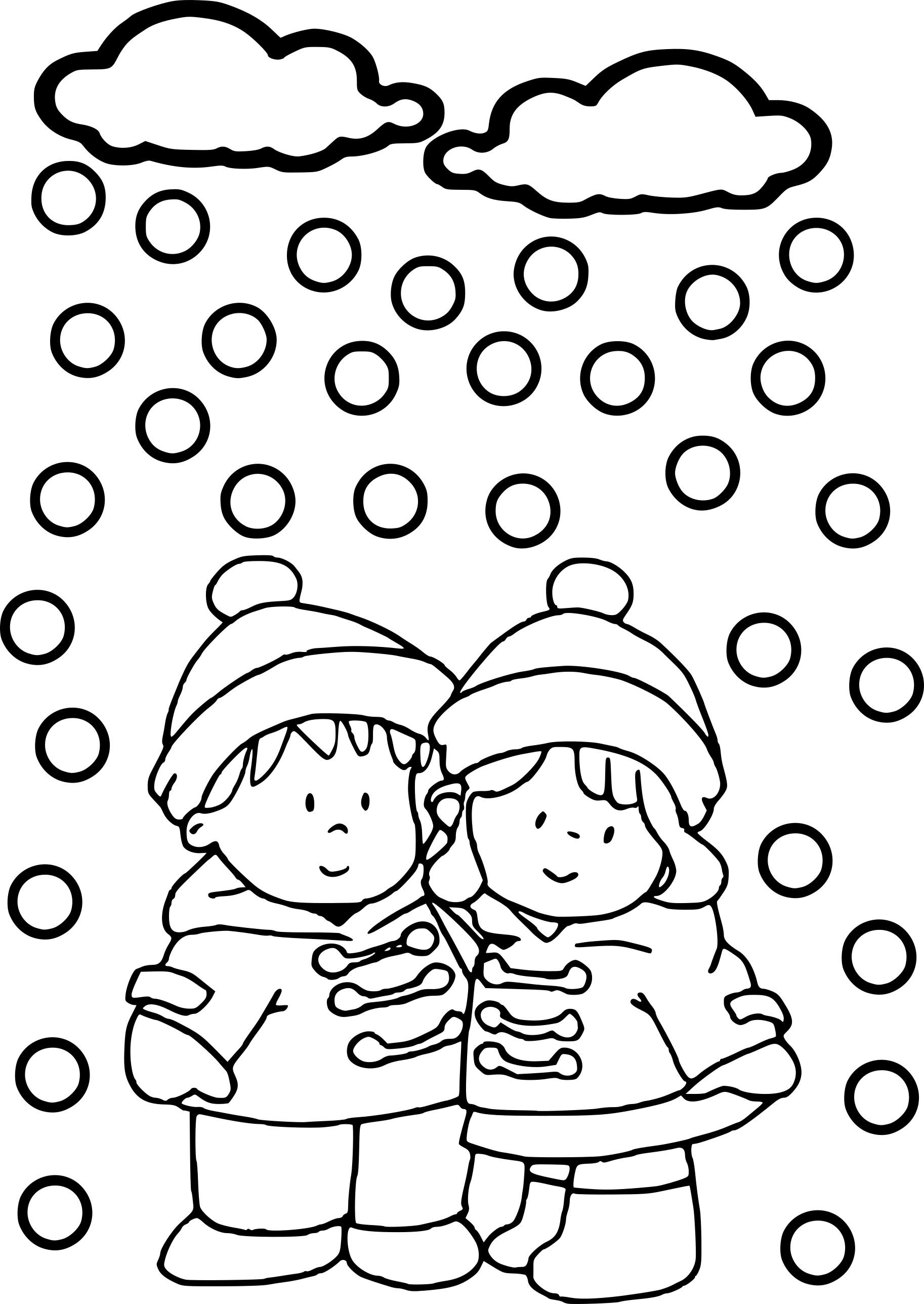 Coloriage la neige à imprimer
