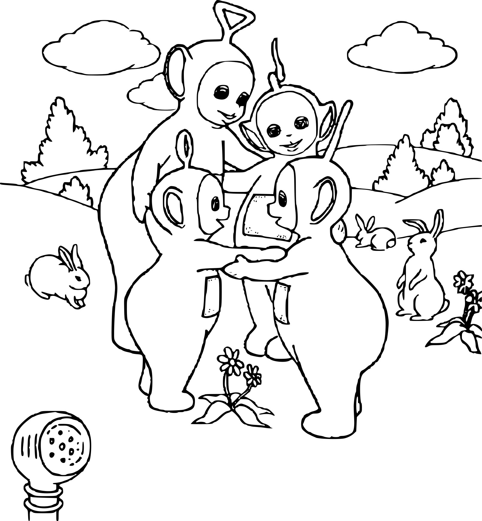 Coloriage Les Teletubbies