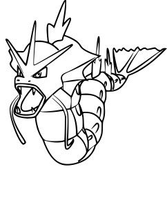 Coloriage Leviator Pokemon Go