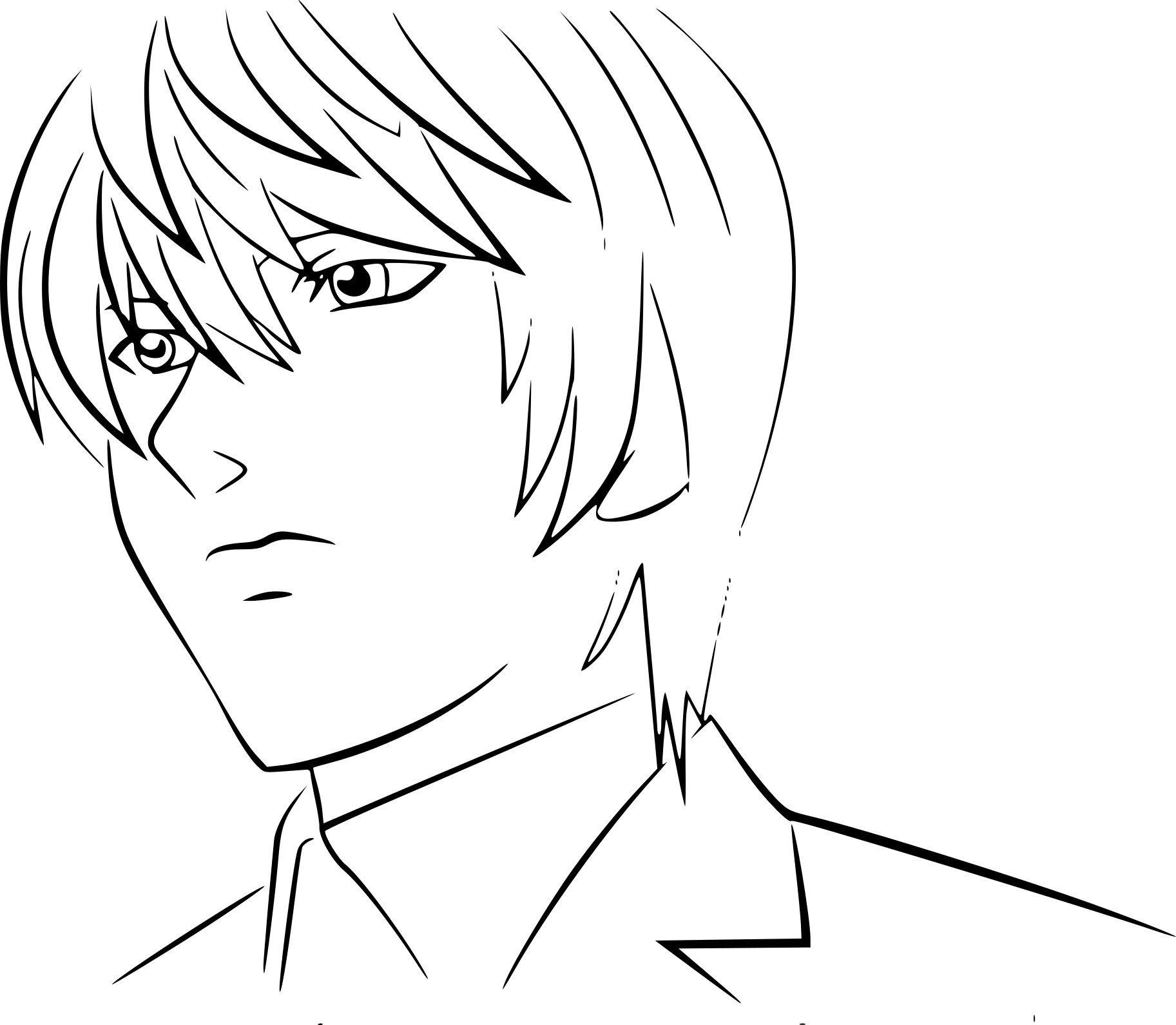 Coloriage Light Yagami
