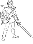Coloriage Link Super Smash Bros