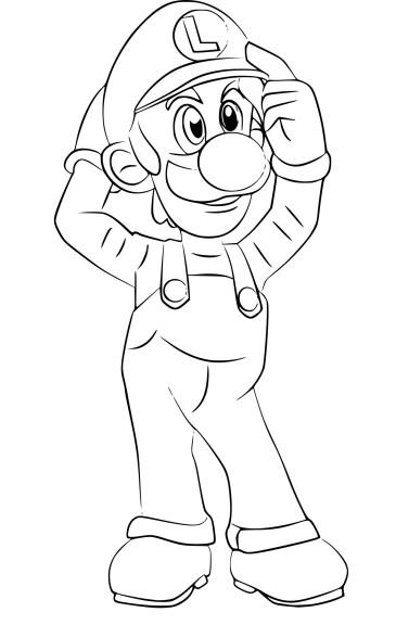 Coloriage Luigi Super Smash Bros