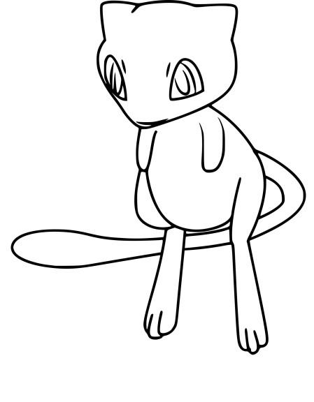 Coloriage Mew Pokemon Go