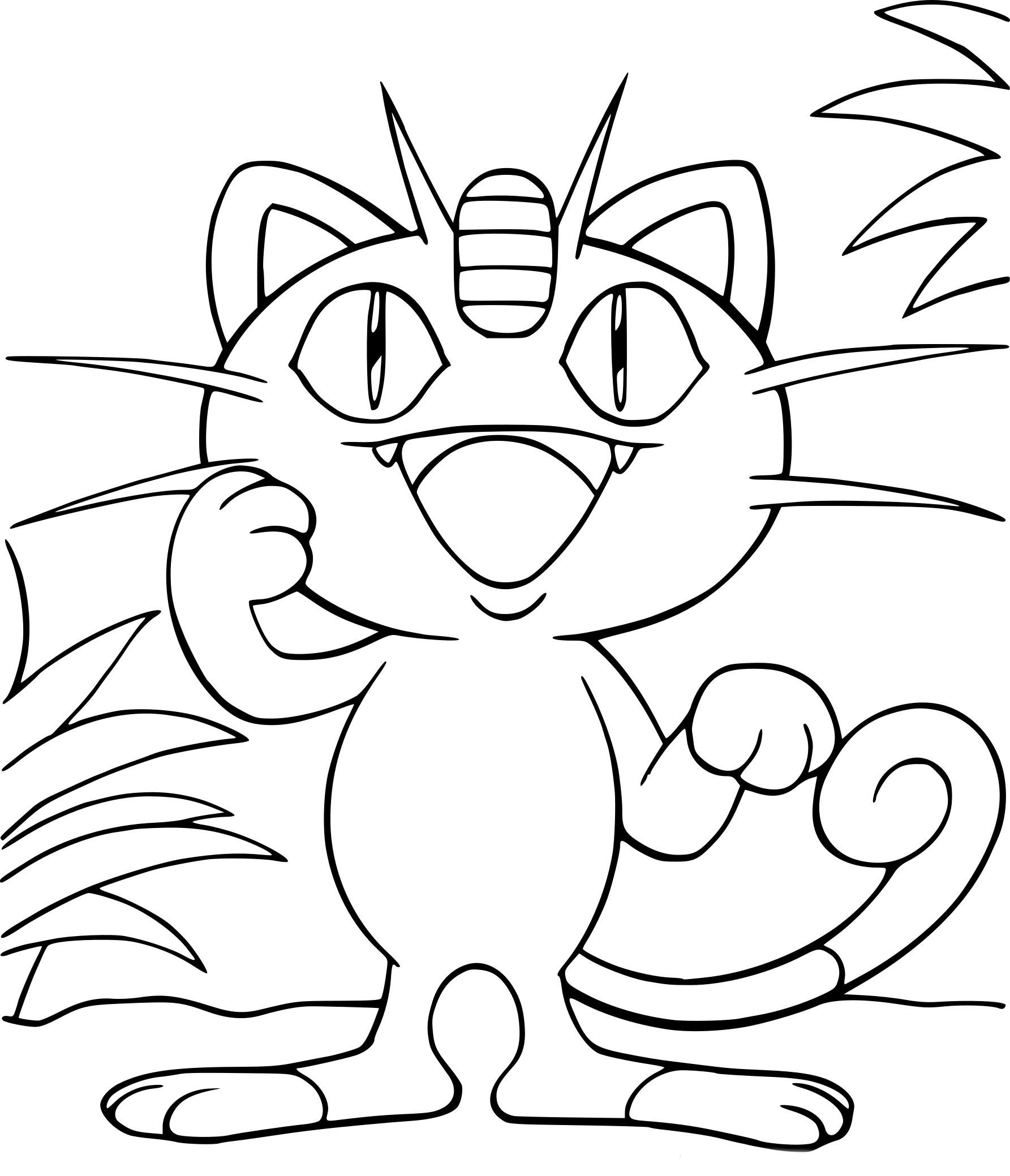 Coloriage Miaouss Pokemon 224 Imprimer