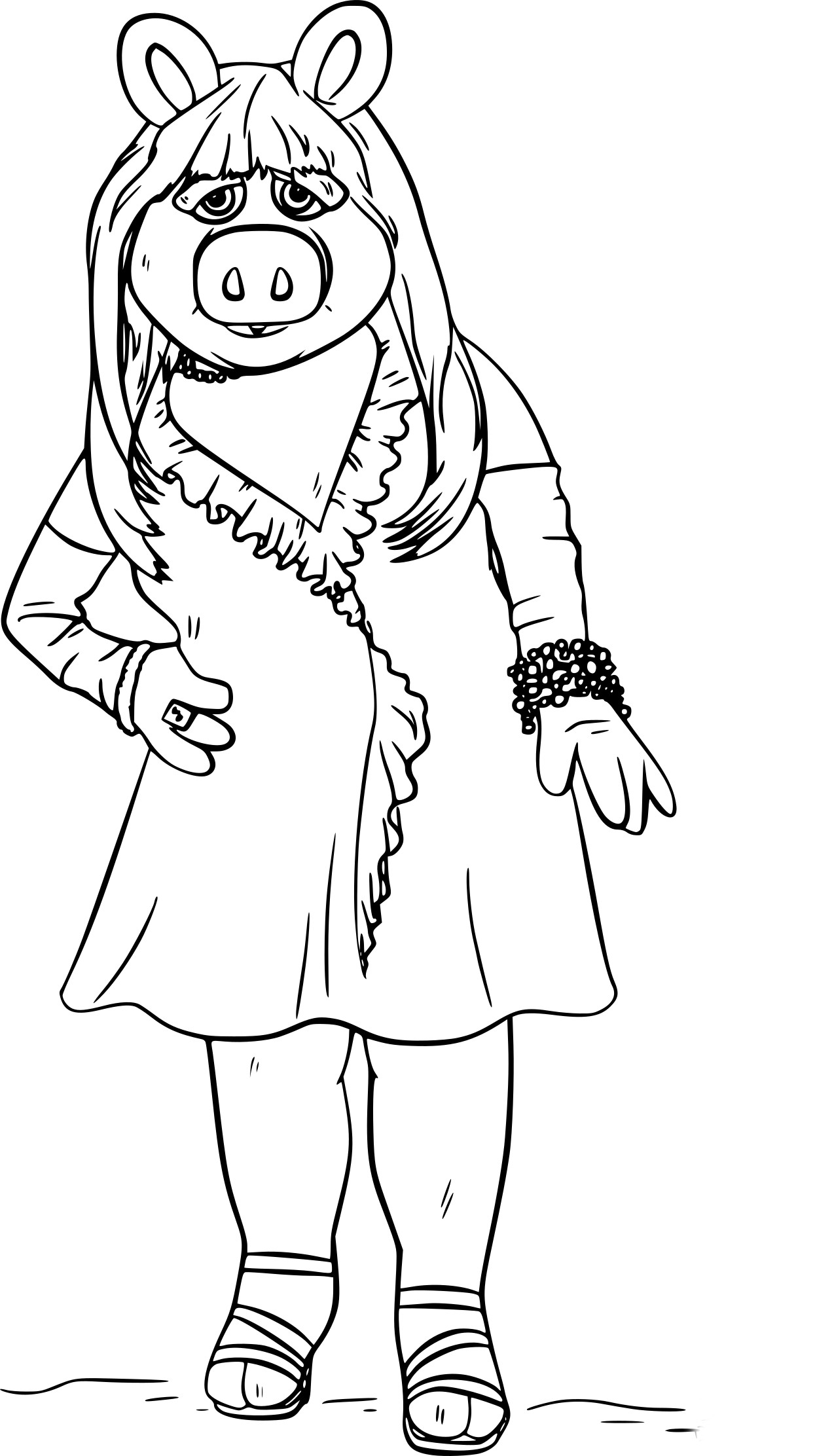Coloriage Miss Piggy