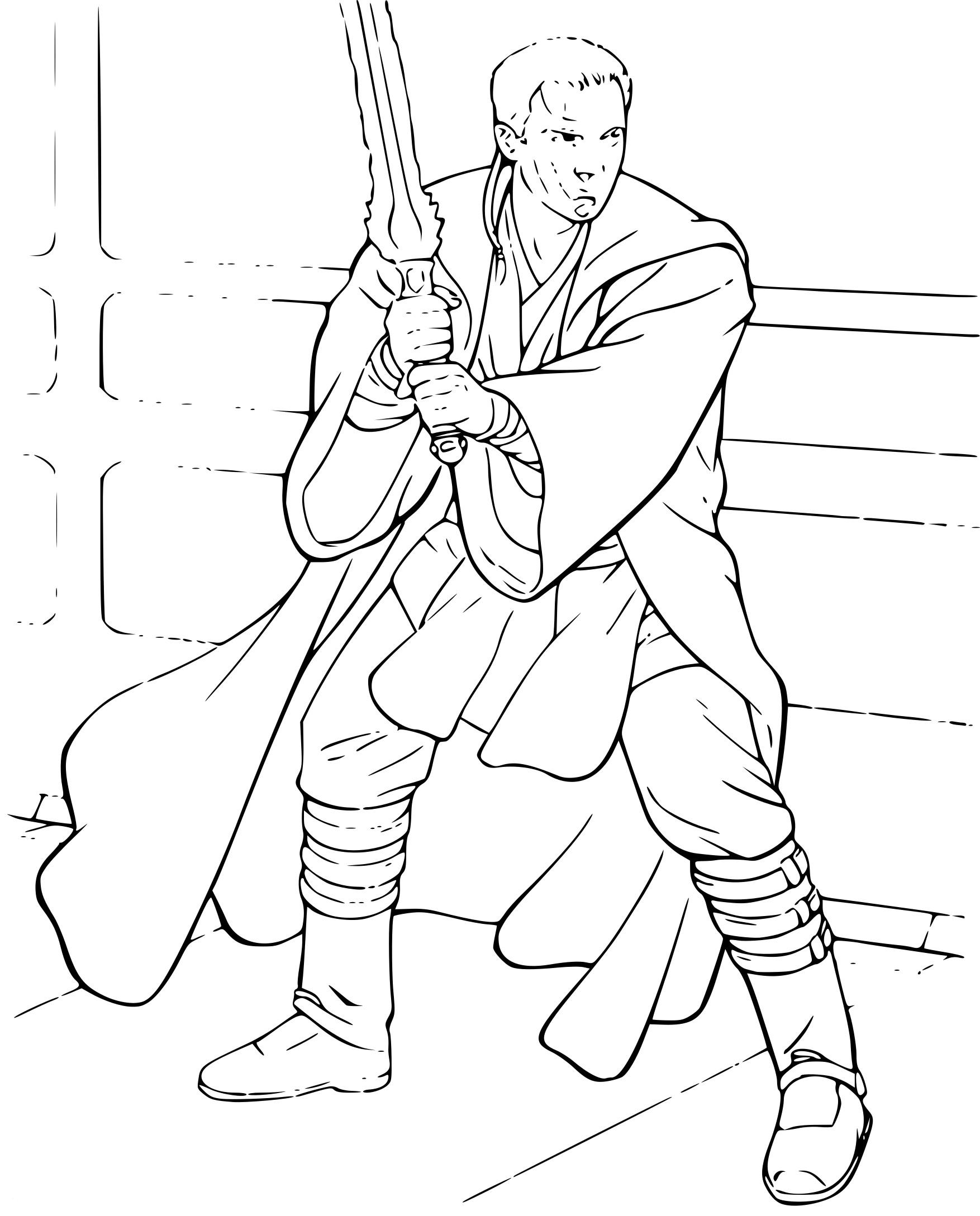 Coloriage Obi-Wan Kenobi