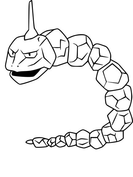 Coloriage Onix Pokemon Go à imprimer
