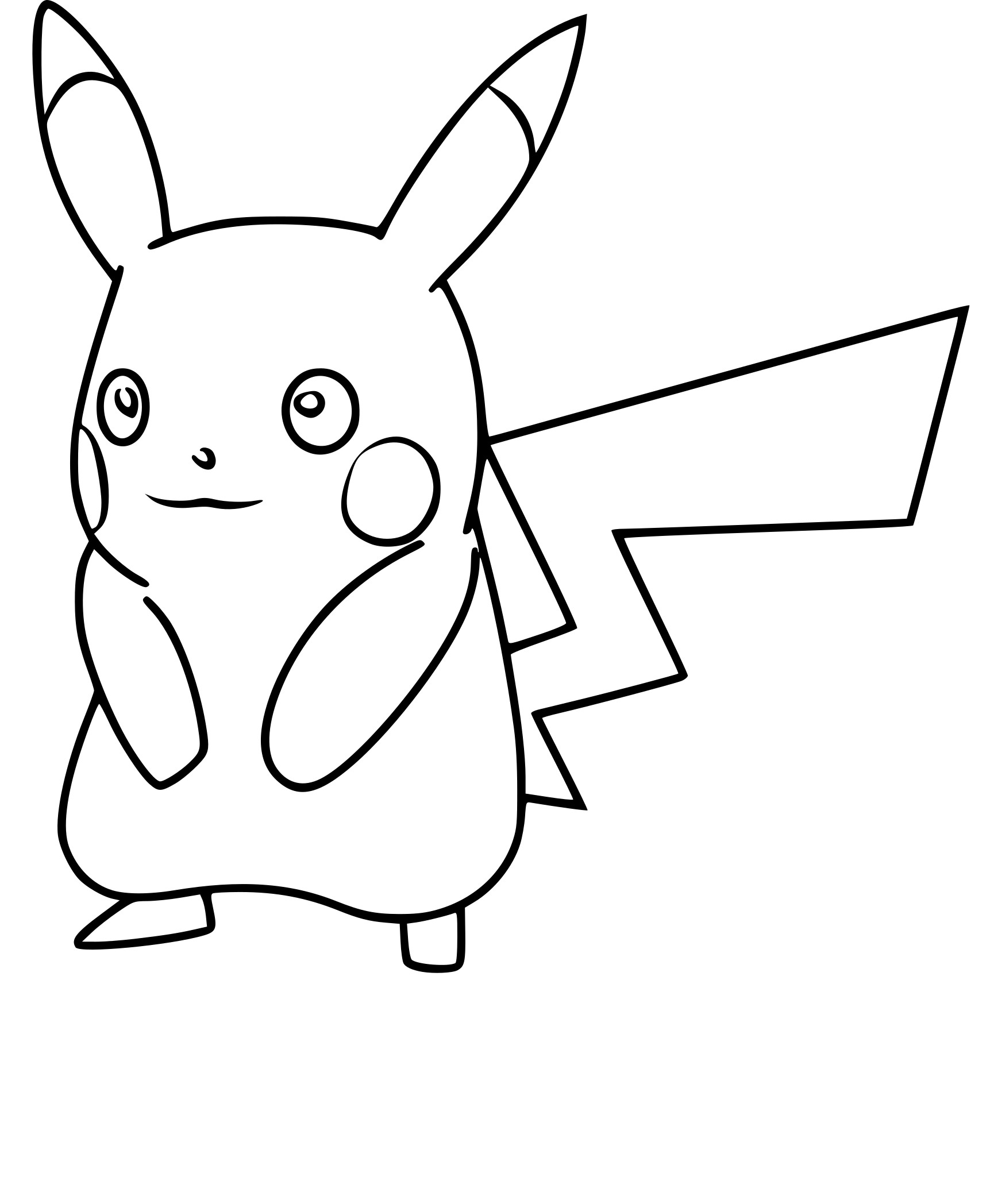 Coloriage Pikachu Pokemon Go