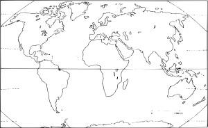 Coloriage carte du monde vierge imprimer for Planisphere enfant