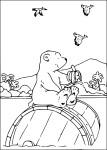 Coloriage Plume, le petit ours polaire