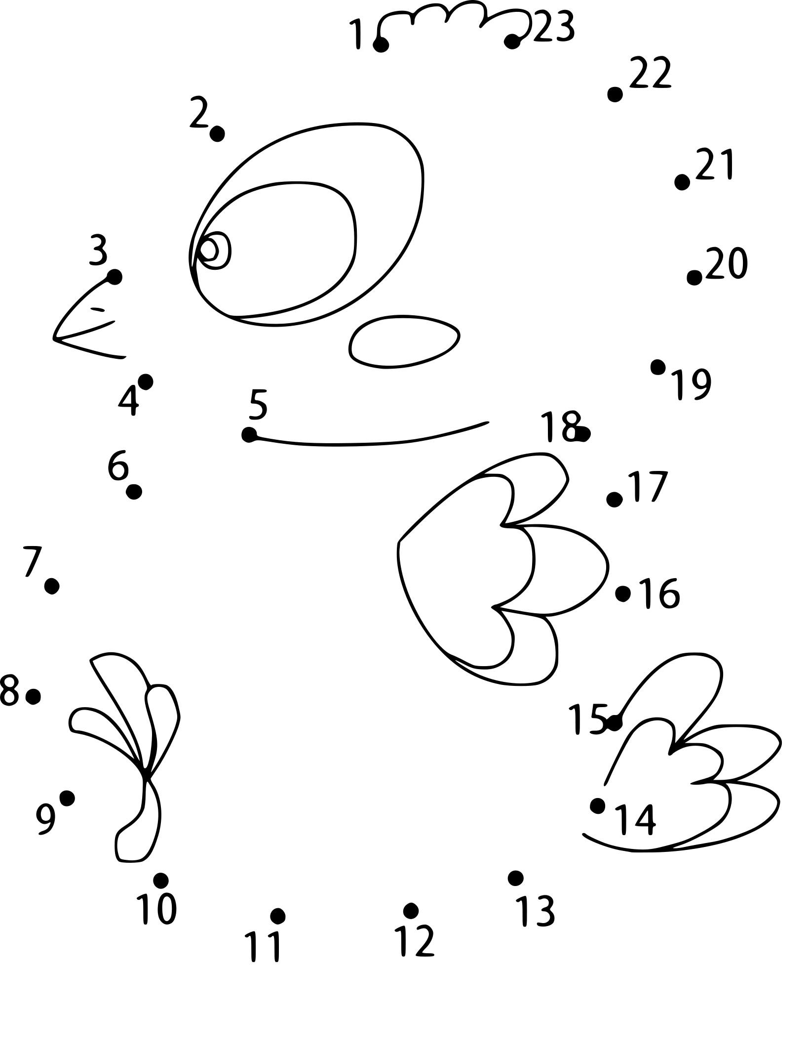 Coloriage point à relier oiseau a imprimer