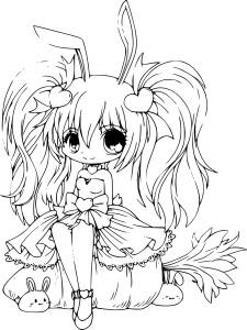 Coloriage princesse de manga