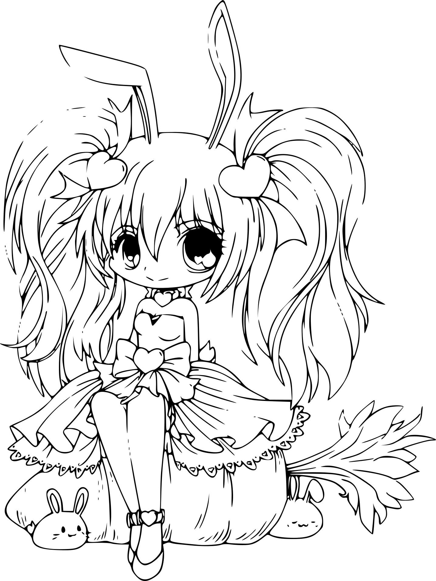 Coloriage princesse de manga imprimer - Coloriage manga difficile ...