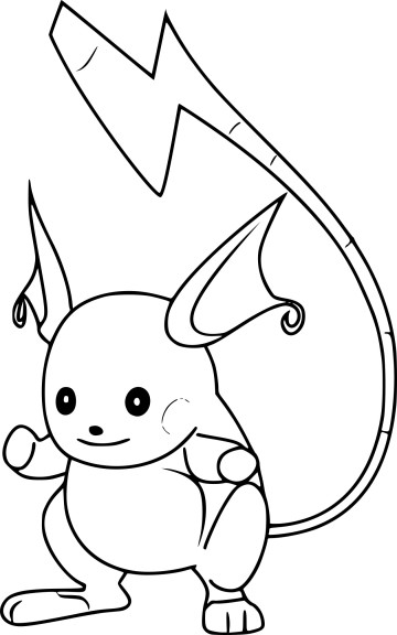 Coloriage Raichu Pokemon Go à imprimer