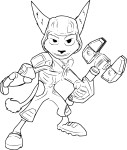 Coloriage Ratchet and Clank