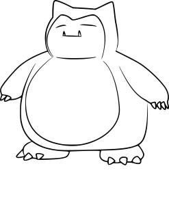 Coloriage Ronflex Pokemon Go