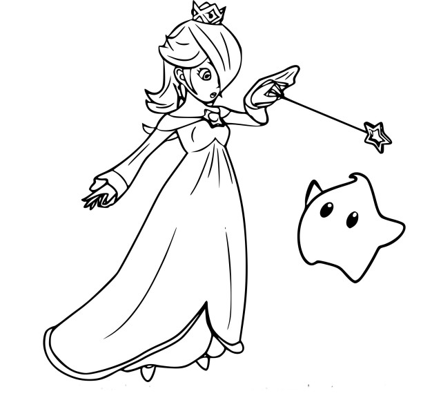 Coloriage Rosalina Super Smash Bros