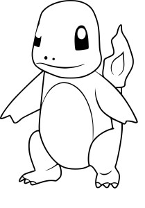 Coloriage Salamèche Pokemon Go