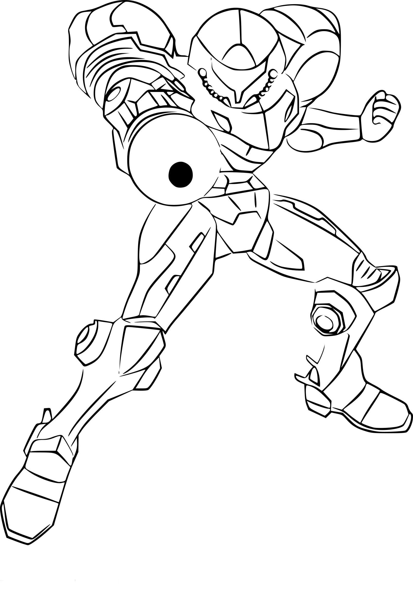 Coloriage Samus Super Smash Bros