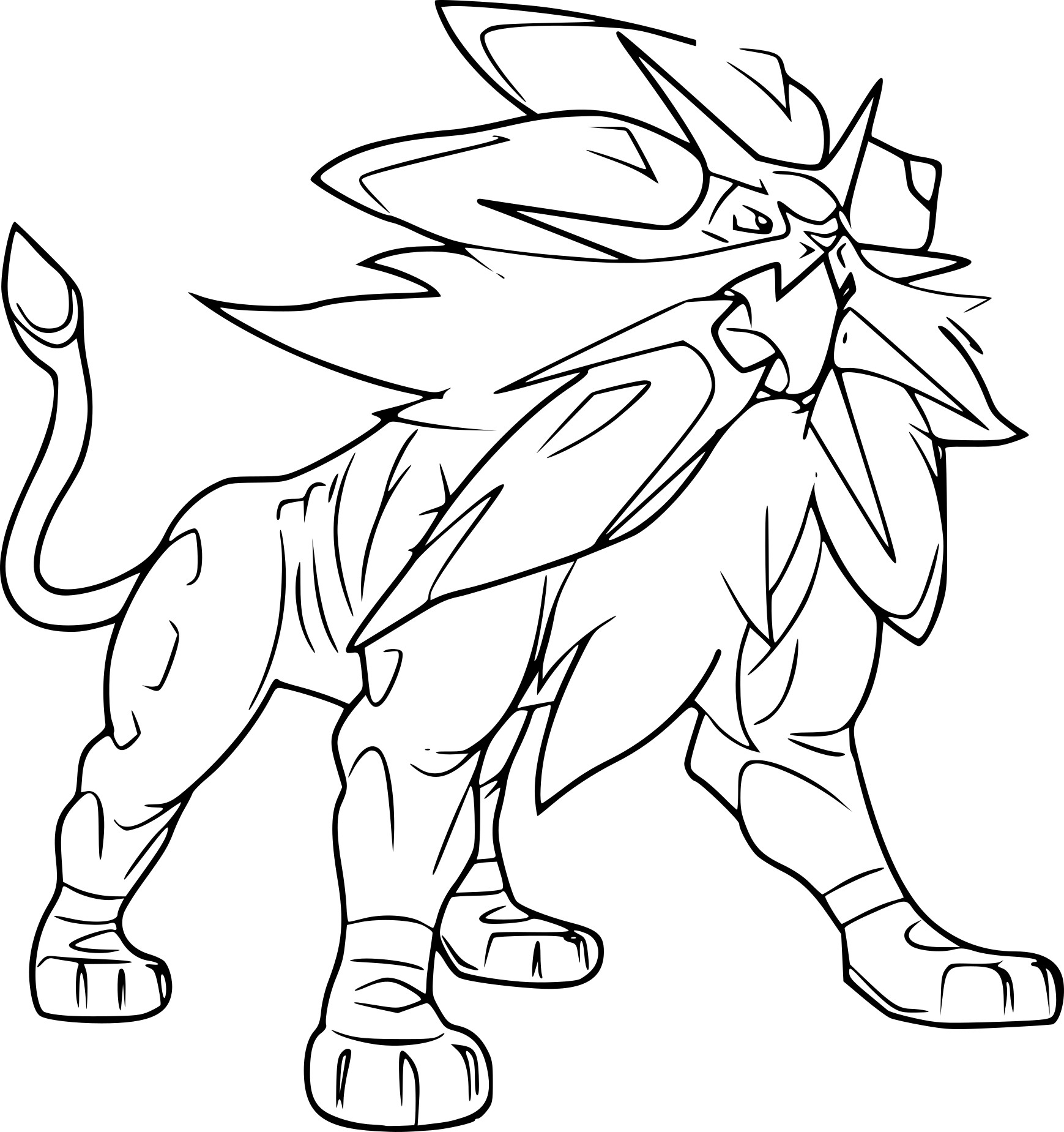 Coloriage solgaleo pokemon imprimer - Coloriage carte pokemon ...