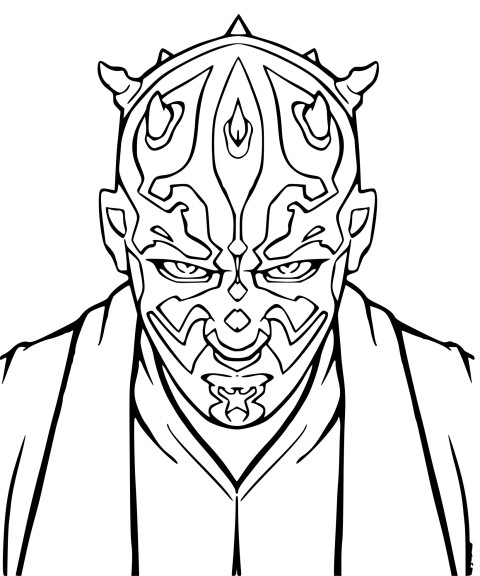 coloriage star wars sith