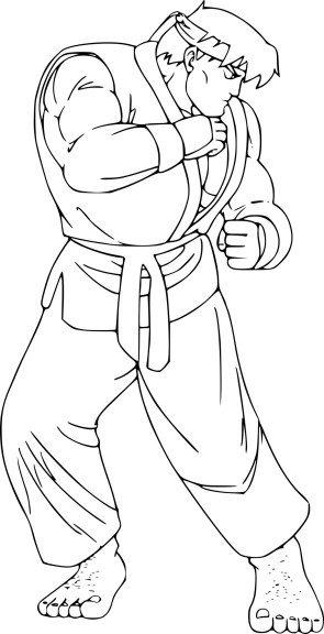 Coloriage Street Fighter