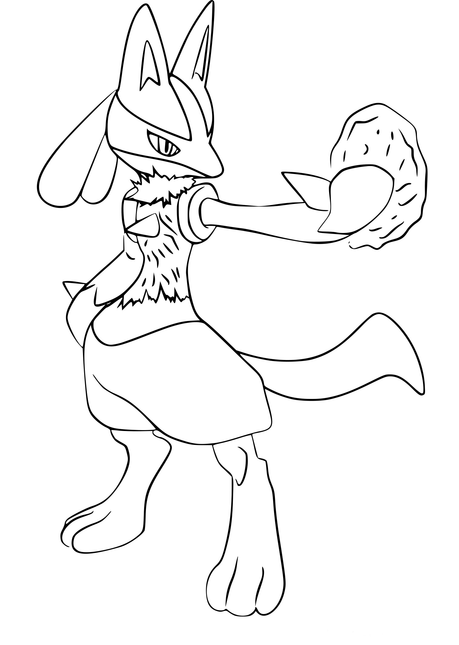 Coloriage Super Smash Bros Lucario à imprimer