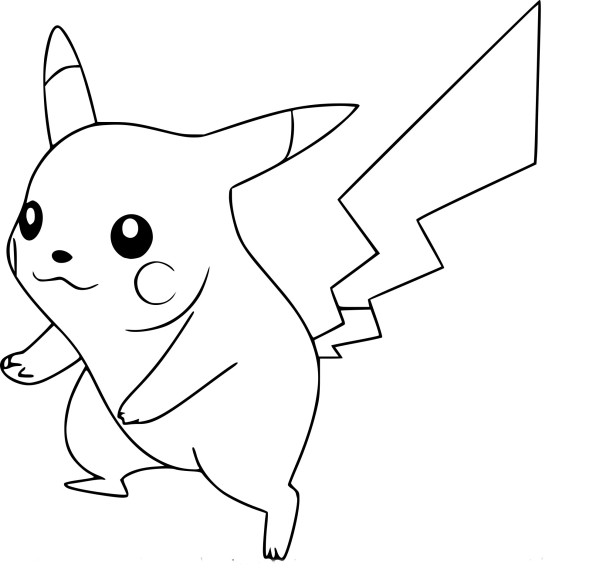 Coloriage Super Smash Bros Pikachu