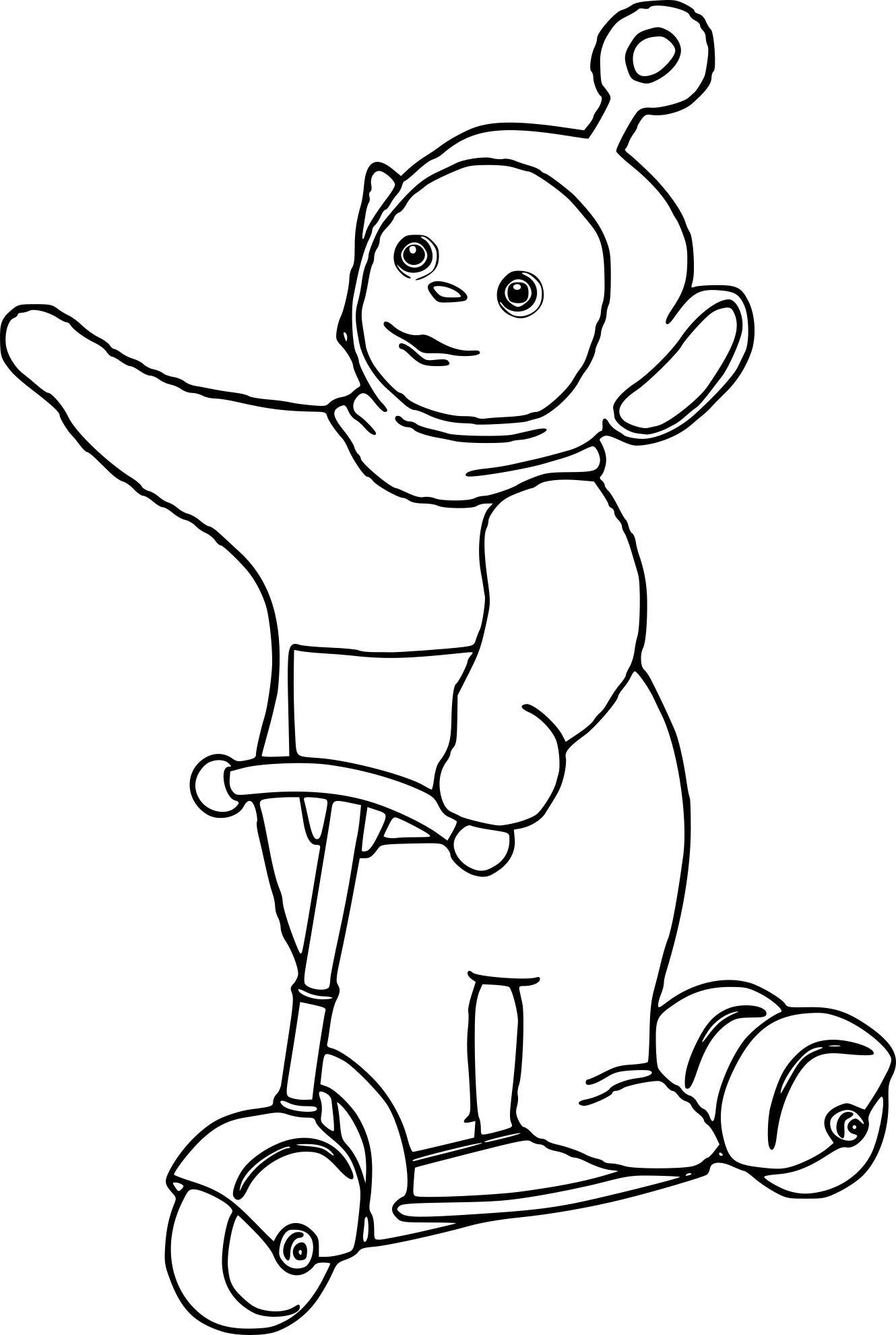 Coloriage Teletubbies Po
