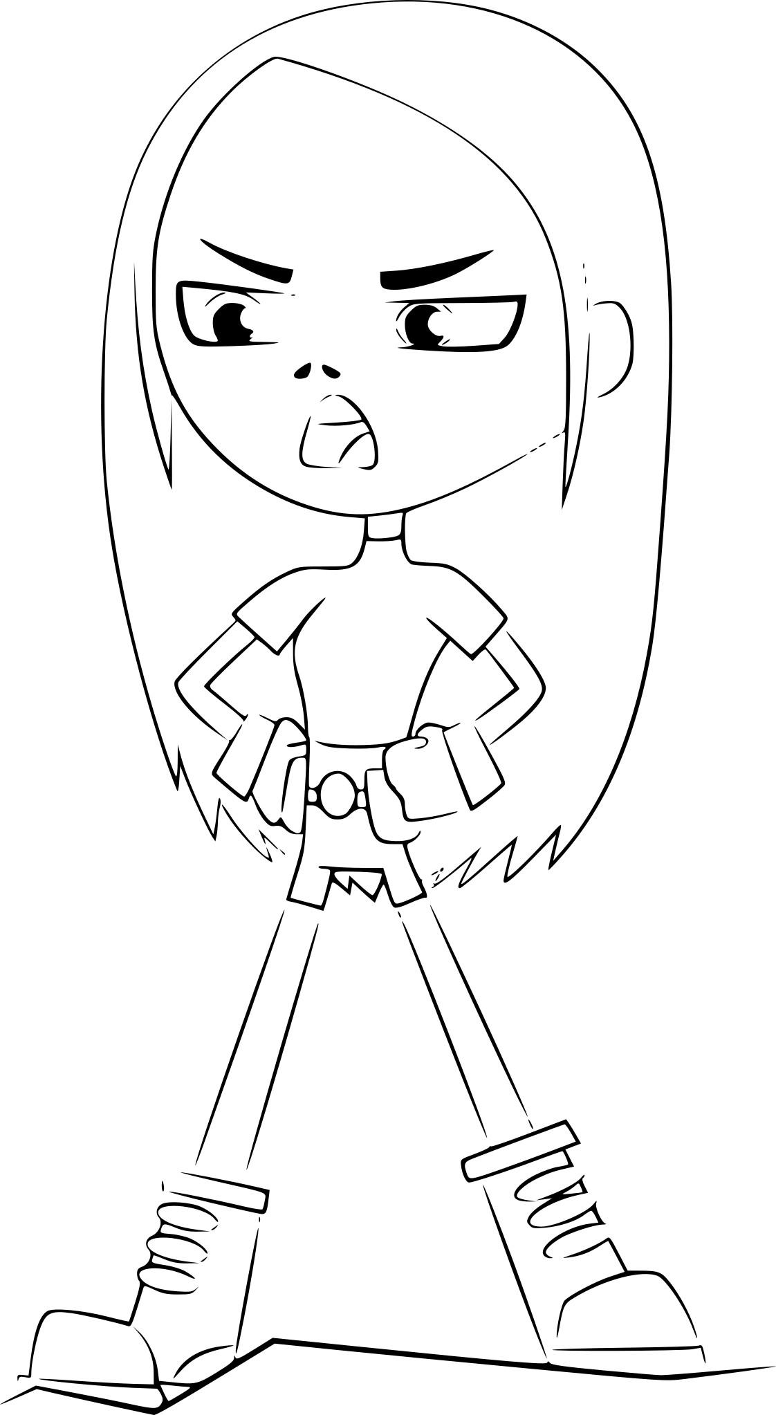 Coloriage Terra Teen Titans