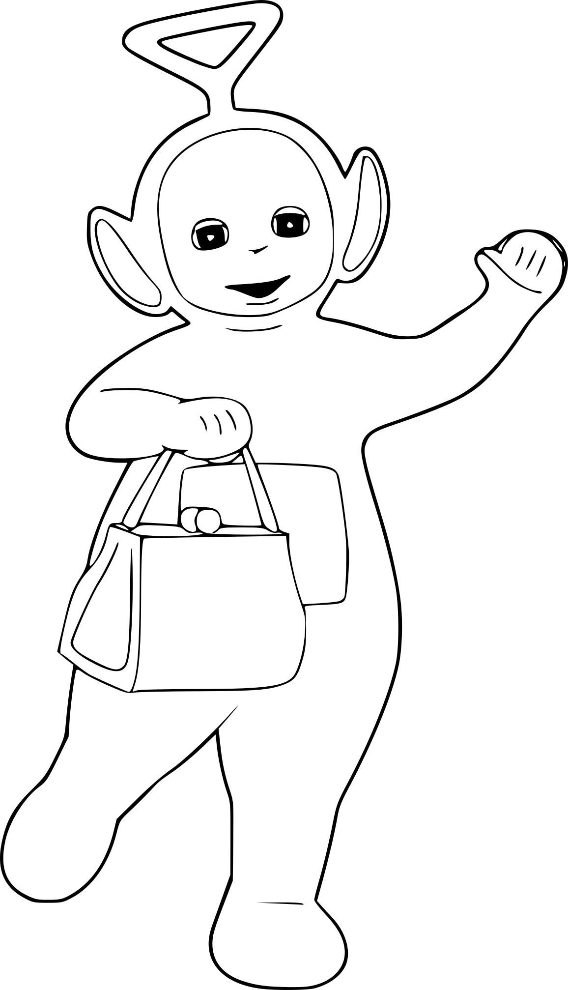 Coloriage Teletubbies Tinky Winky