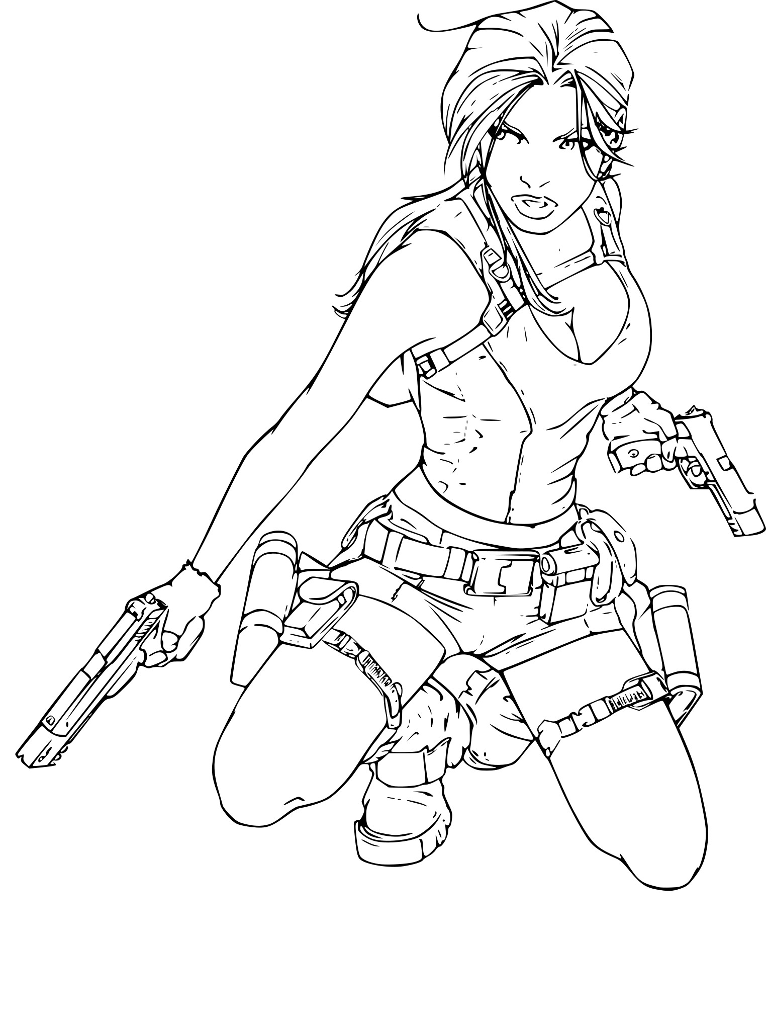 Coloriage Tomb Raider