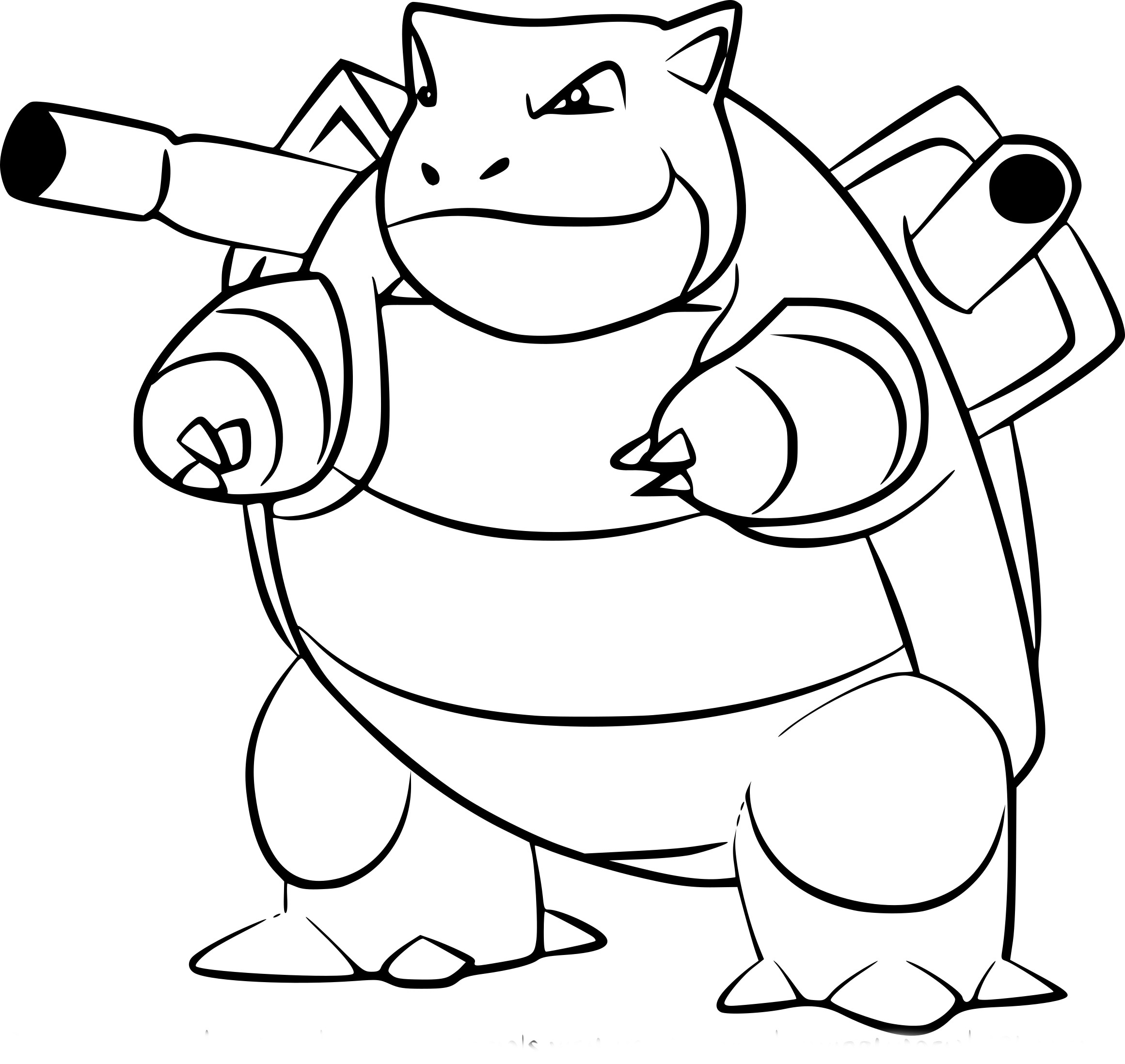 Coloriage Tortank Pokemon Go