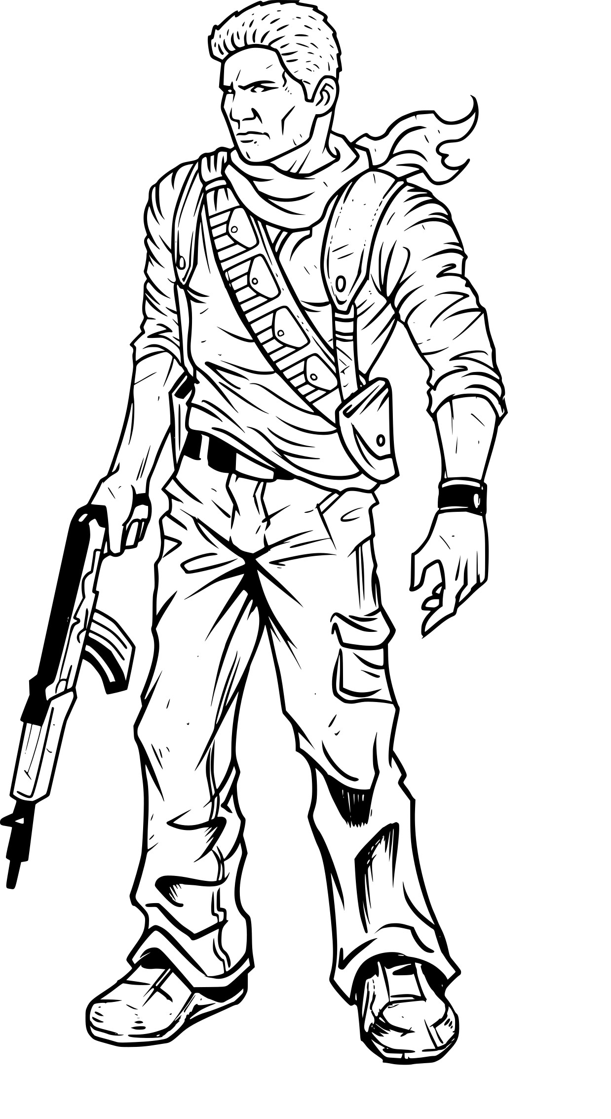 coloriage uncharted