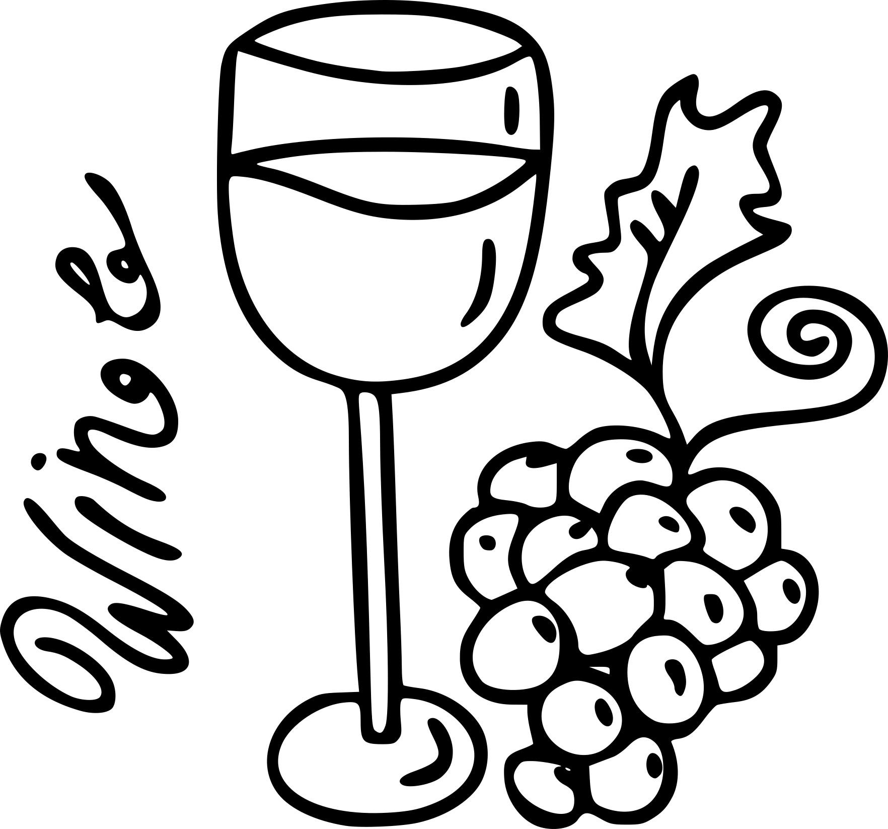 Coloriage vin rouge