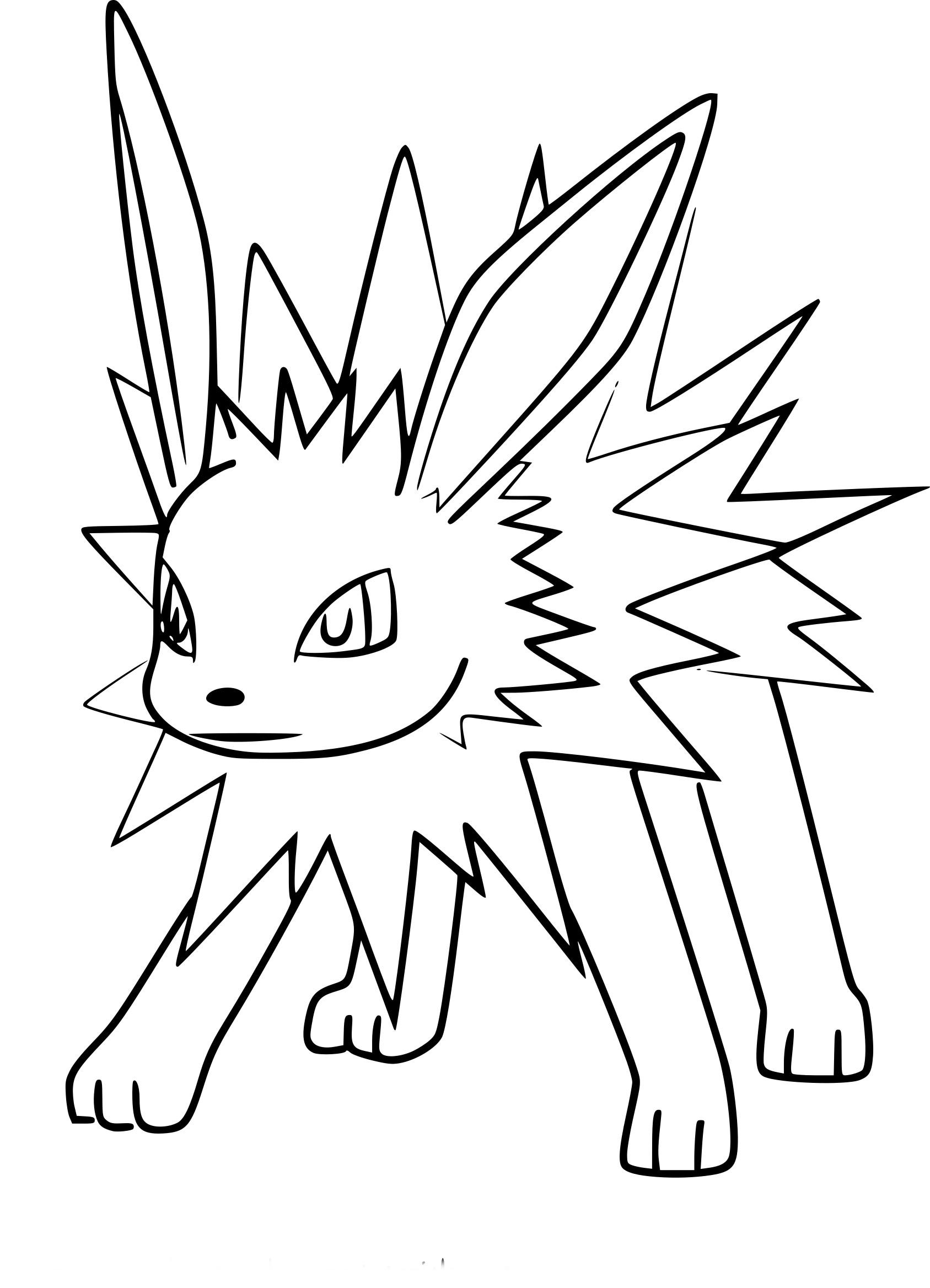 Coloriage Voltali Pokemon Go 224 Imprimer