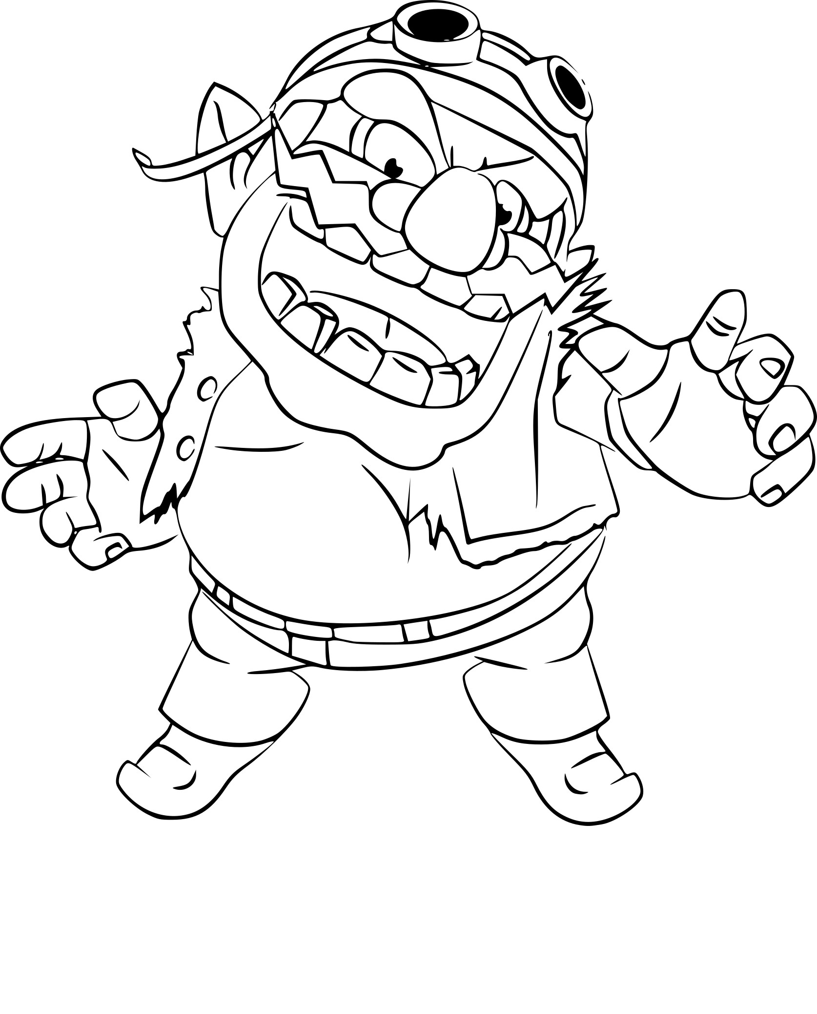 Coloriage Wario Super Smash Bros