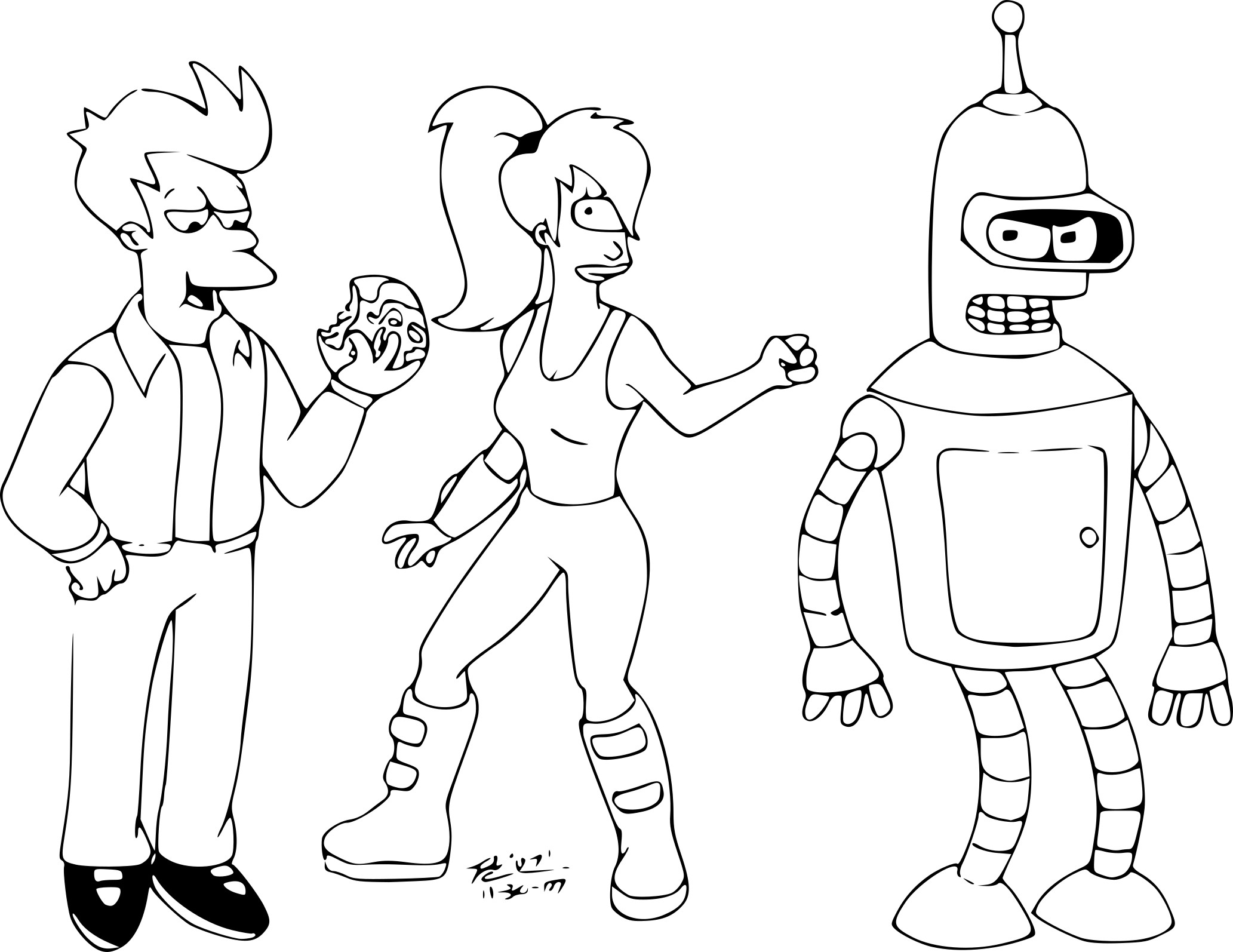 Futurama coloriage