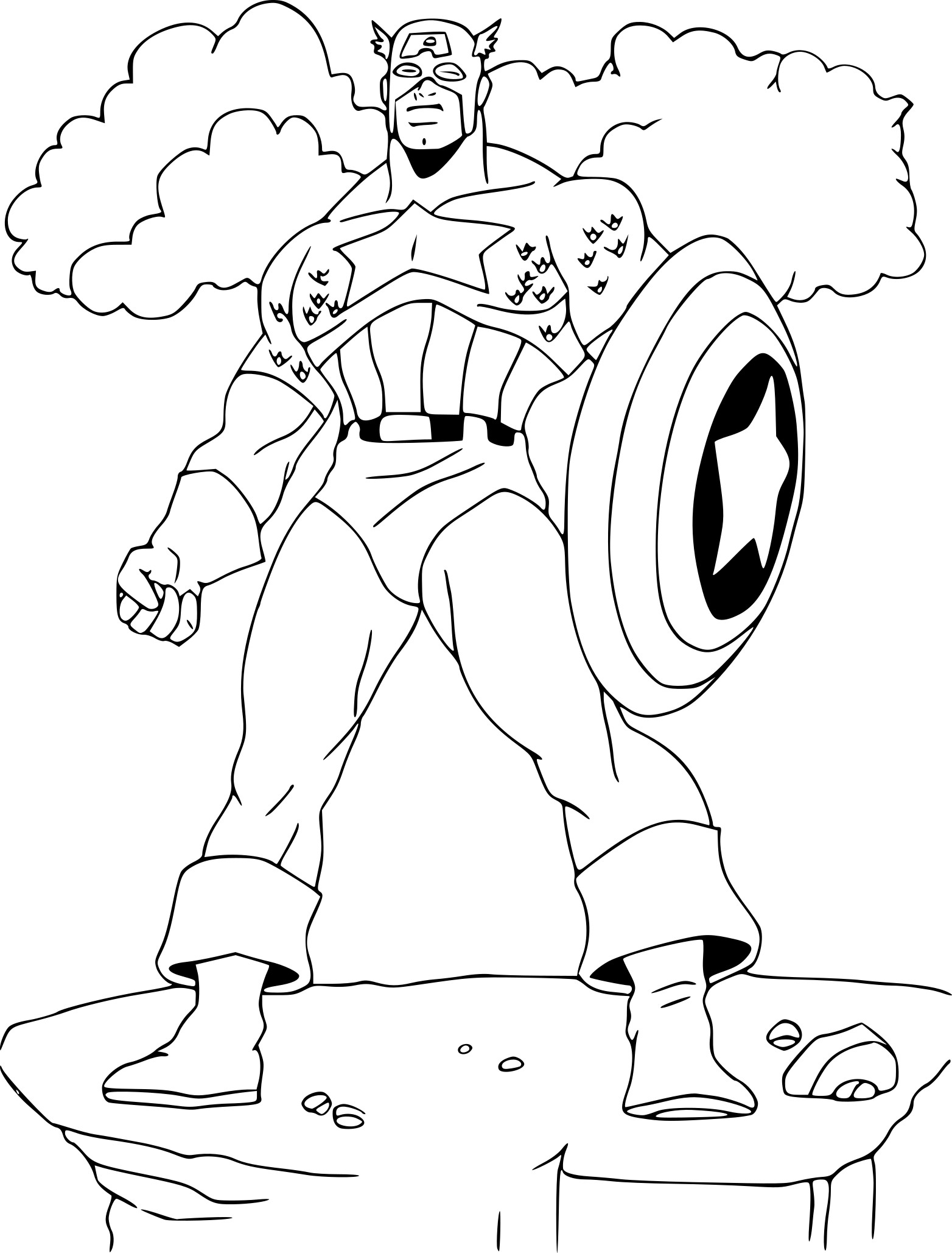 Captain America coloriage
