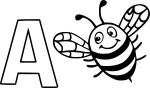 Coloriage A comme abeille