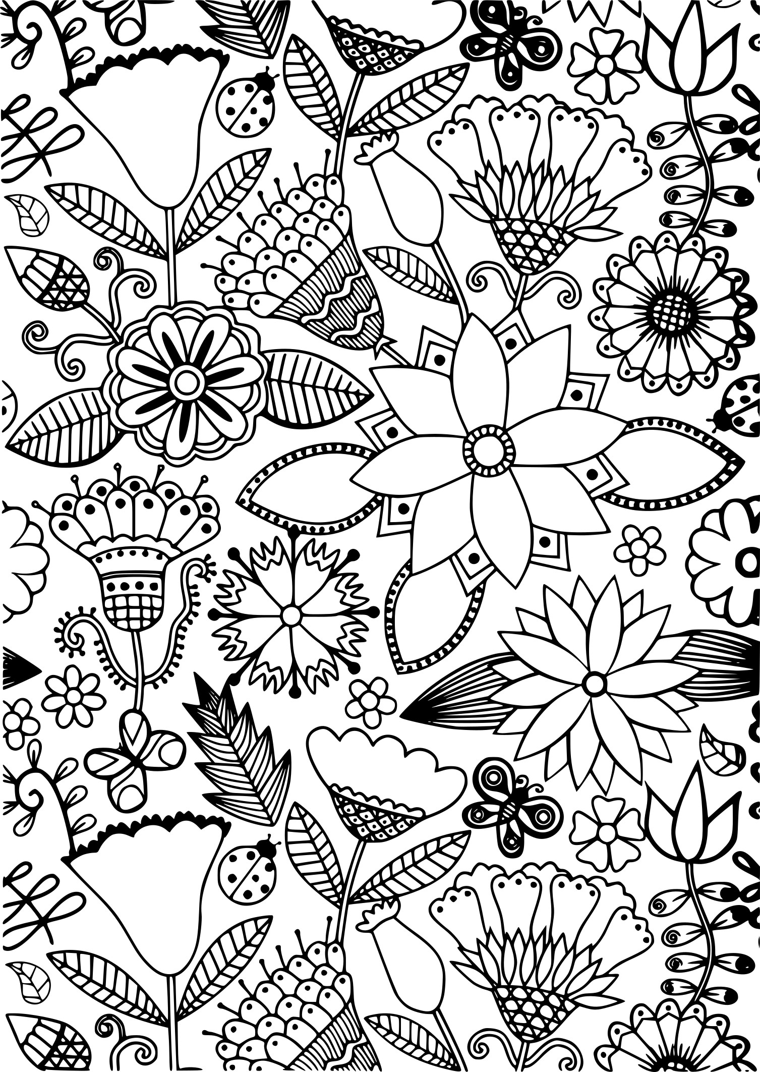 Coloriage anti stress fleurs imprimer - Dessin anti stresse ...