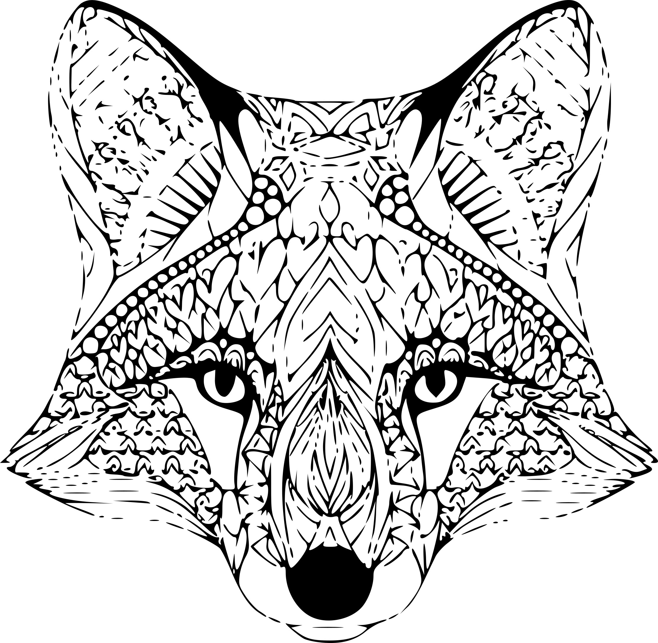 Coloriage anti-stress renard